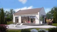 Проект современного одноэтажного частного дома
