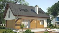 Проект энергосберегающего коттеджа с мансардой