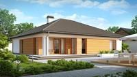 Проект дома с фронтальным гаражом
