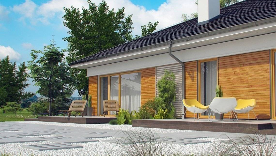 Проект одноэтажного коттеджа с несколькими ванными комнатами