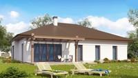 Проект удобного одноэтажного коттеджа с гаражом для двух автомобилей