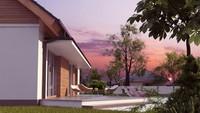 Проект одноэтажного экономичного и функционального коттеджа