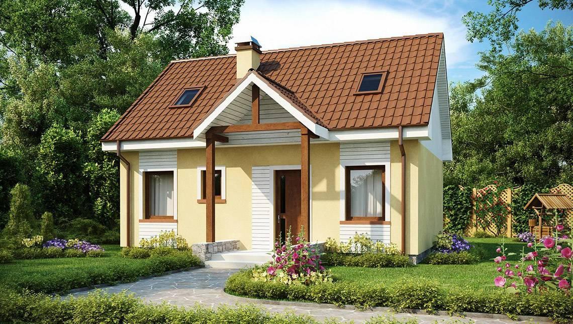 Проект классического коттеджа с двускатной крышей