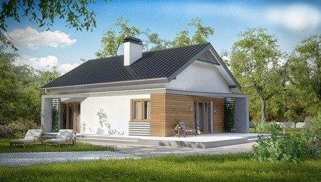 Проект малогабаритного дома с мансардой