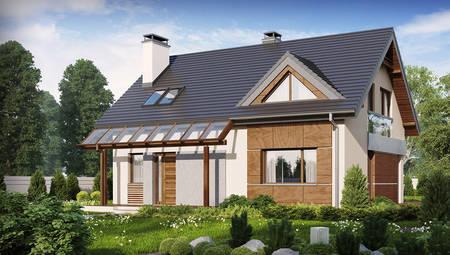 Проект дома с современными элементами