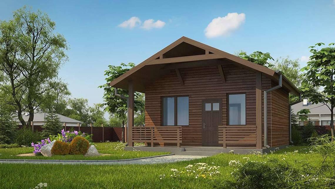 Проект комфортной сауны с деревянным фасадом