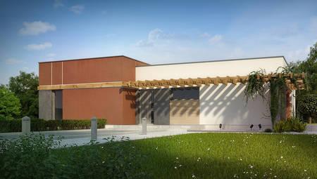 Проект одноэтажного дома в стиле хай - тек