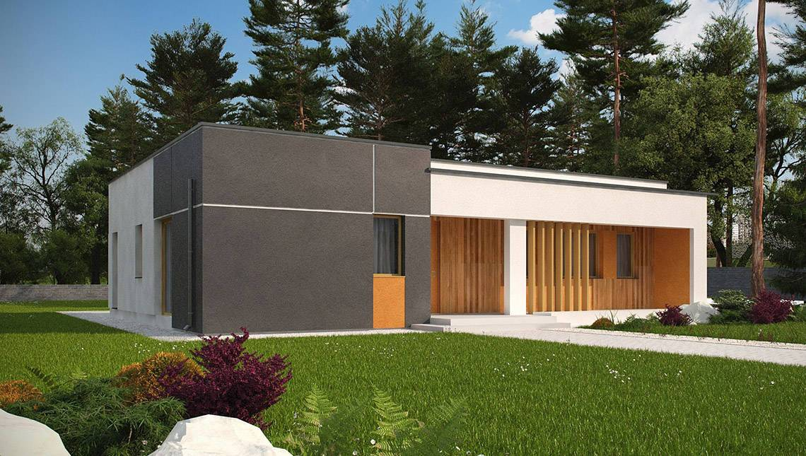Проект одноэтажного дома модерн