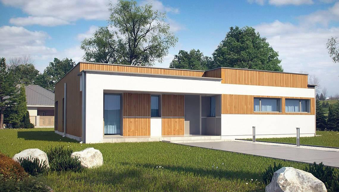 Проект одноэтажного дома с плоской крышей