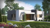 Проект небольшого дома хай-тек