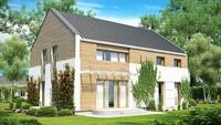 Проект двухэтажного дома с двускатной крышей