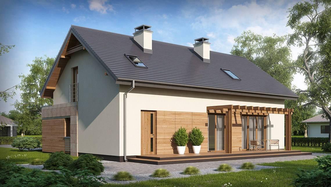 Проект уютного дома с гаражом