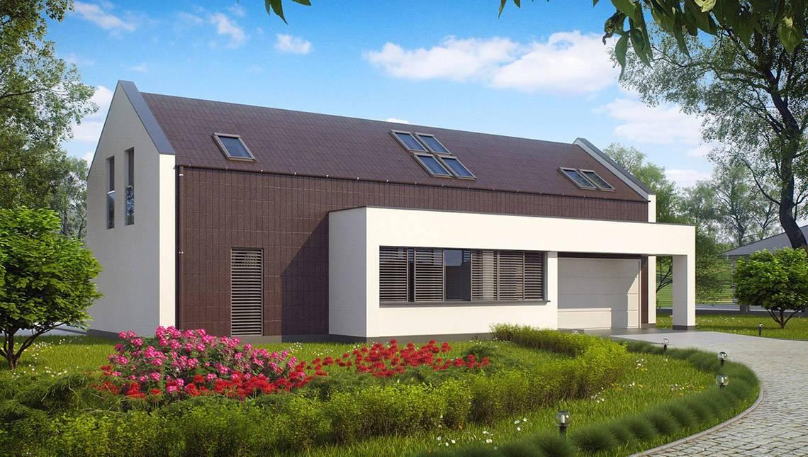 Проект современного дома с двумя спальнями
