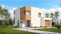 Проект современного небольшого дома с гаражом