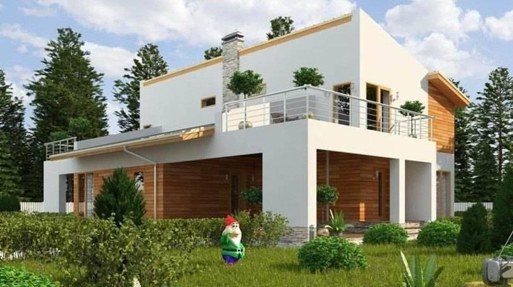 Проект удобного двухэтажного дома с гаражом