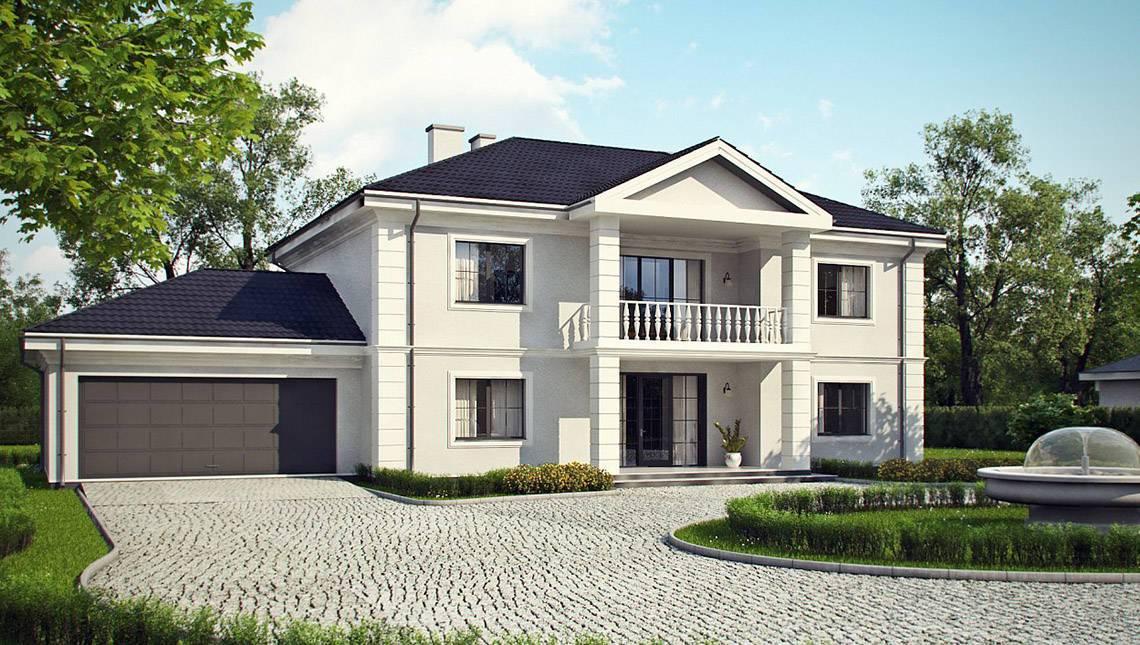 Проект особняка в стиле дворянской усадьбы