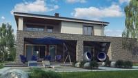 Проект классического двухэтажного дома