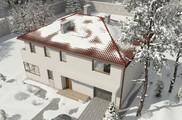 Проект двухэтажного просторного особняка с гаражом