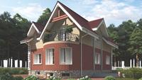 Проект узкого дома с мансардой и цокольным этажом