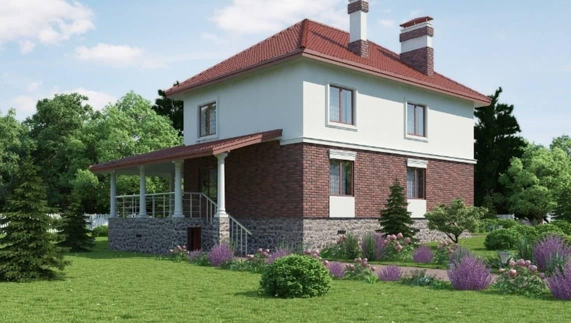 Двухэтажный коттедж с отдельным выходом на просторную террасу