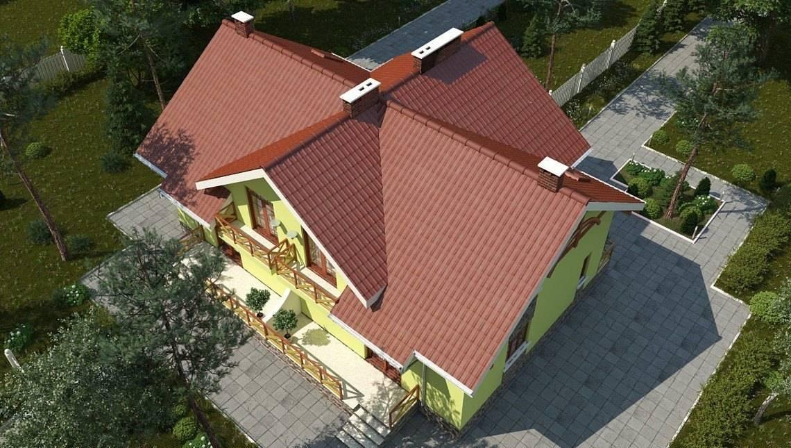 Изысканный стильный одноэтажный дом с мансардой