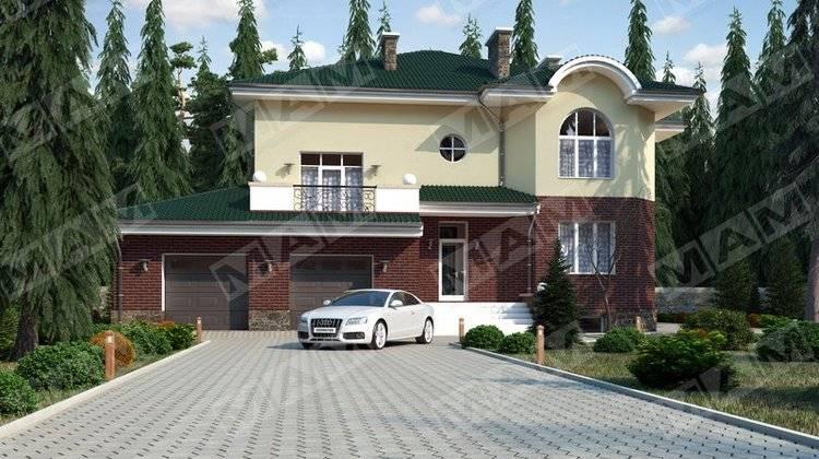 Классический особняк с цокольным этажом и гаражом на 2 автомобиля