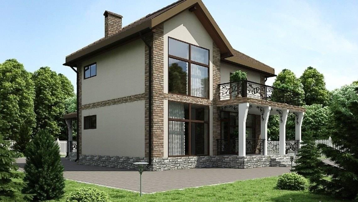 Шикарный двухэтажный особняк с большим балконом