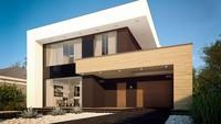 Проект современного двухэтажного дома хай тек с гаражом