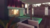 Проект модного двухэтажного коттеджа хай тек