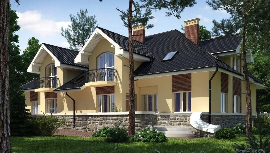Большая представительная усадьба на две семьи с двумя террасами