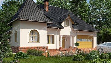 Проект дома с мансардой в английском стиле