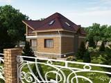 Коттедж в английском стиле с кирпичным фасадом