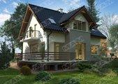 Проект компактного дома с мансардой и цокольным этажом