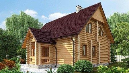 Аккуратный дачный дом из бруса