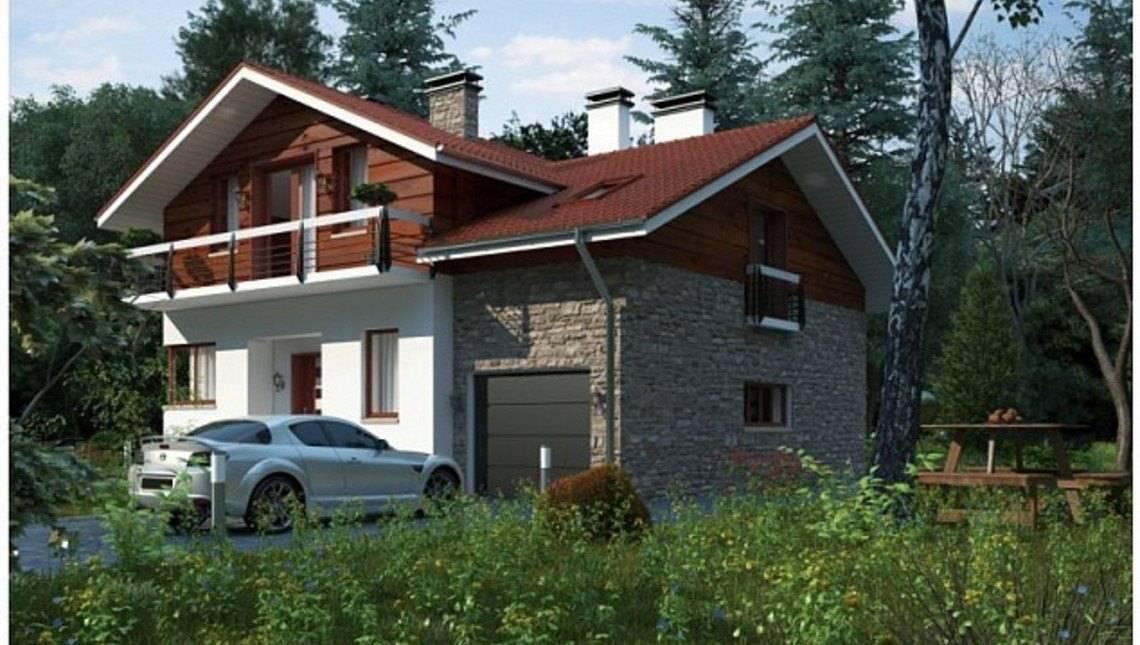 Комфортный коттедж с комбинированным фасадом