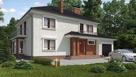 Классический просторный двухэтажный дом