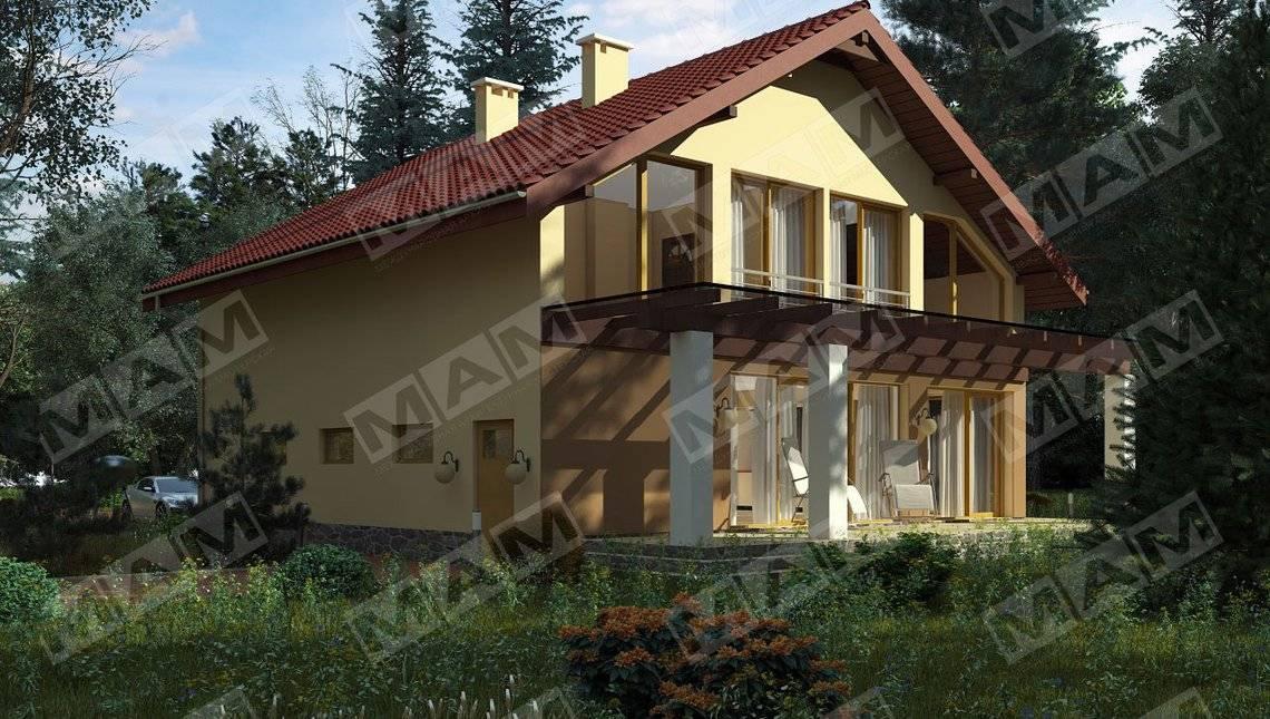 Уютный коттедж со светлой террасой