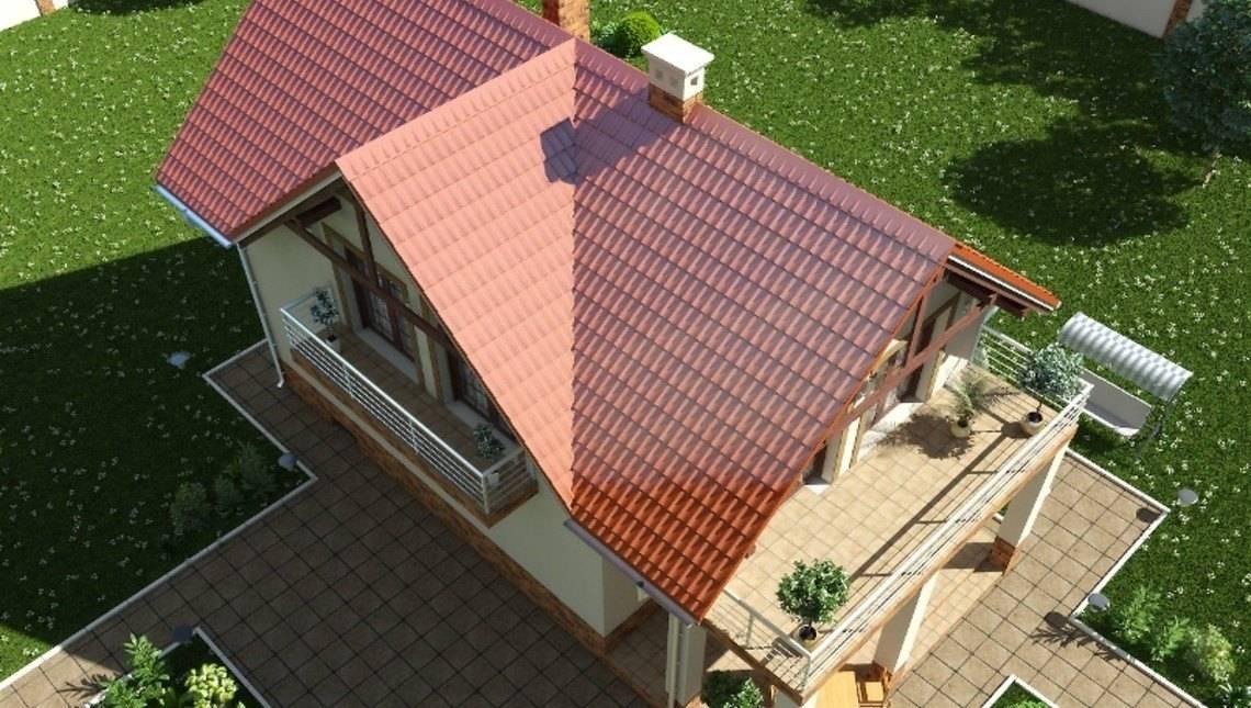 Проект красивого дома с подвалом для узкого участка
