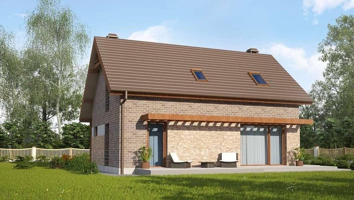 Версия проекта загородного дома по типу 4M218 с кирпичным фасадом