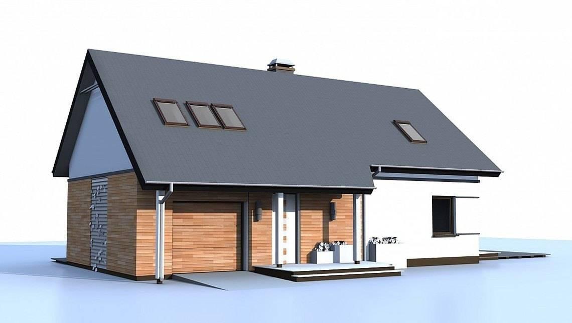 Дом с мансардой по типу 4M220 с увеличенной площадью