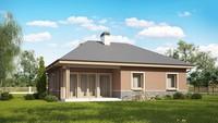 Комфортный одноэтажный дом по типу 4M250 с кирпичным фасадом