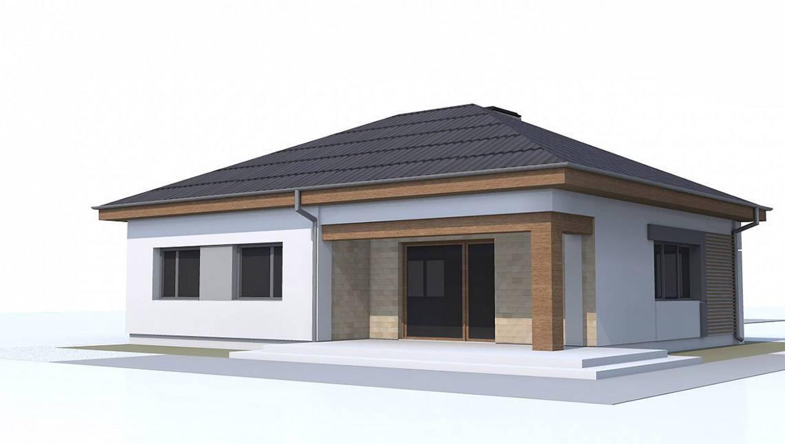 Одноэтажный дом по типу 4M314 с увеличенной гостиной