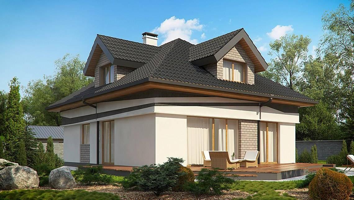 Идеальный дом с мансардой для вытянутого участка