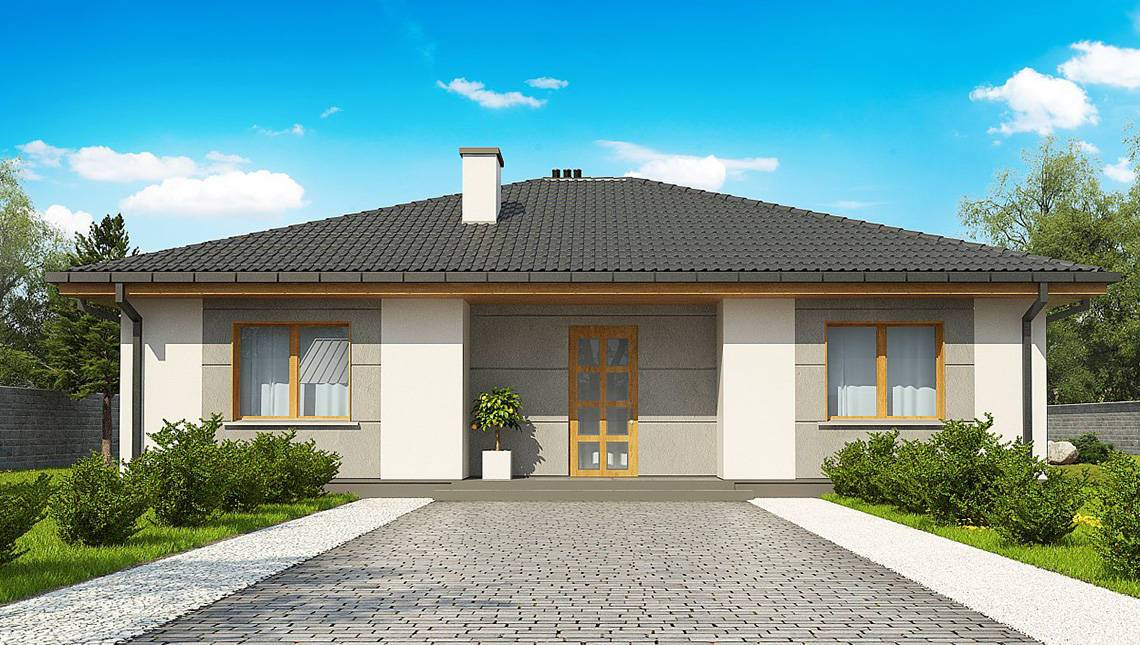Бюджетный одноэтажник по типу 4M470 без гаража