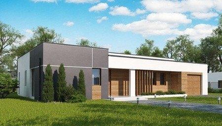 Одноэтажный дом по типу 4M590 с гаражом