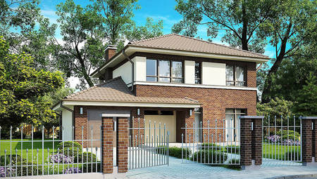 Комфортный двухэтажный дом по проекту 4M628 в каркасном исполнении