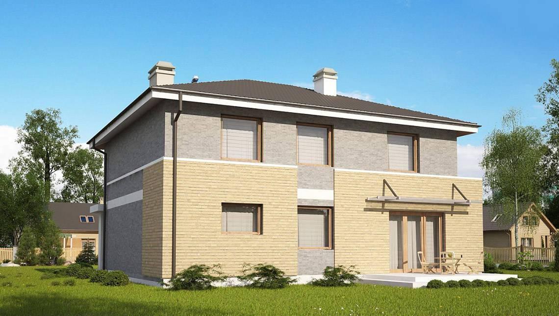 Версия проекта 4M636 с кирпичным фасадом