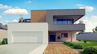 Шикарный современный двухэтажный дом со вторым светом