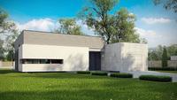 Стильный современный одноэтажный дом