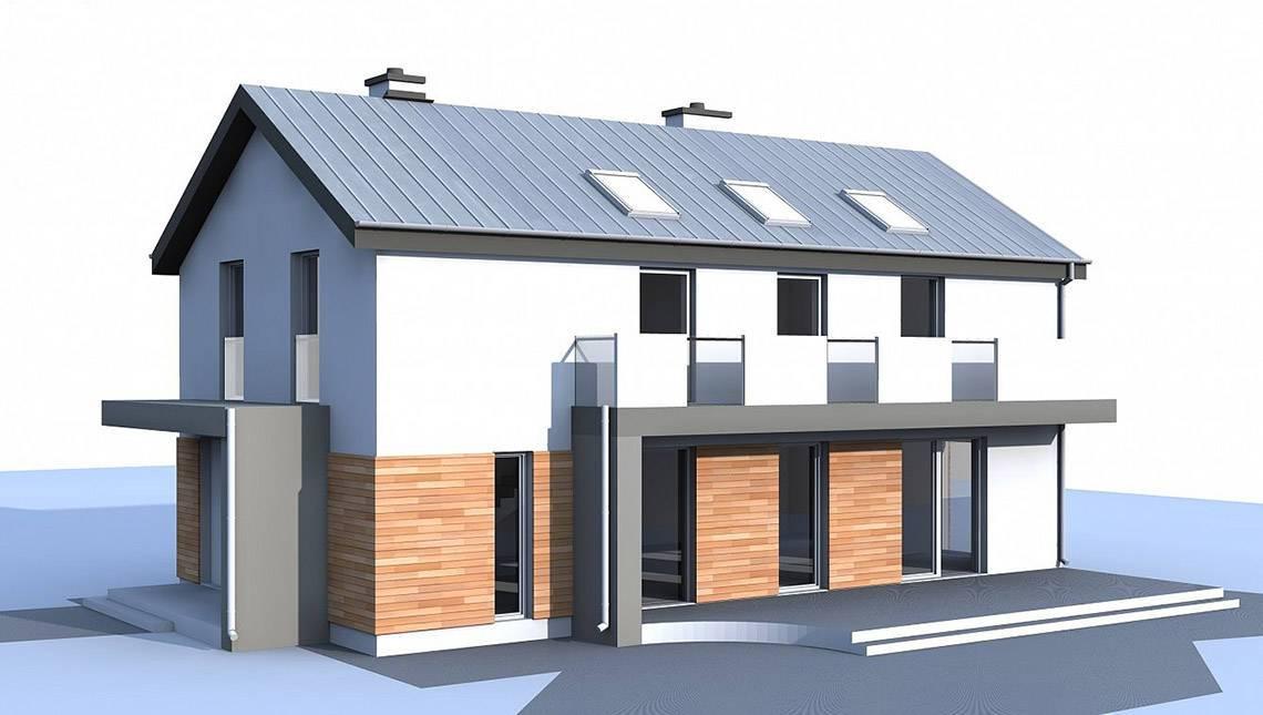 2-х этажный дом для узкого участка по типу 4M692 без гаража